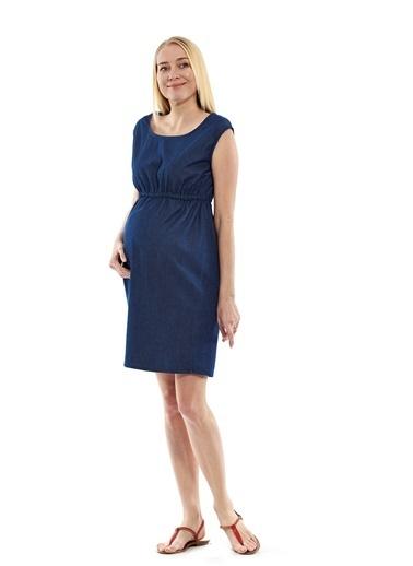 Motherway Maternity Elbise Lacivert